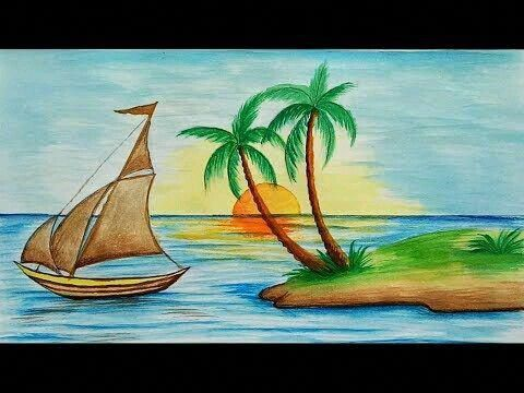 Pin De Fradaquila En Best Landscape Tips Playa Dibujo Lapices De Colores Dibujos Caracol De Mar Dibujo