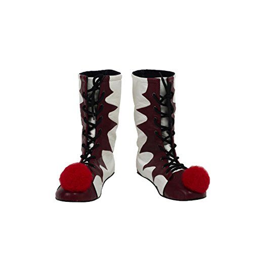 Pennywise Shoes Cosplay It Costume Halloween Boots Red & White ...