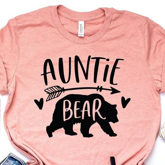 Auntie Bear Shirt, Auntie Bear Tshirt, Gift For Aunt, New Aunt, Aunt To Be, Family Shirts, Aunt Life, Unisex Graphic Tee