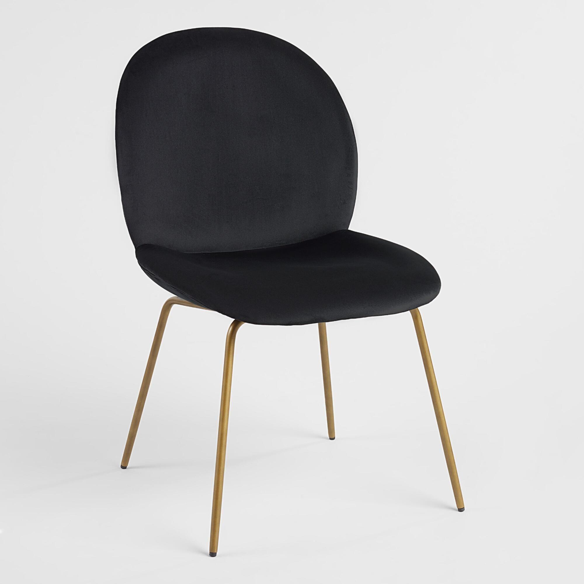 Velvet Vivian Dining Chairs Set Of 2 Chaises De Salle A Manger