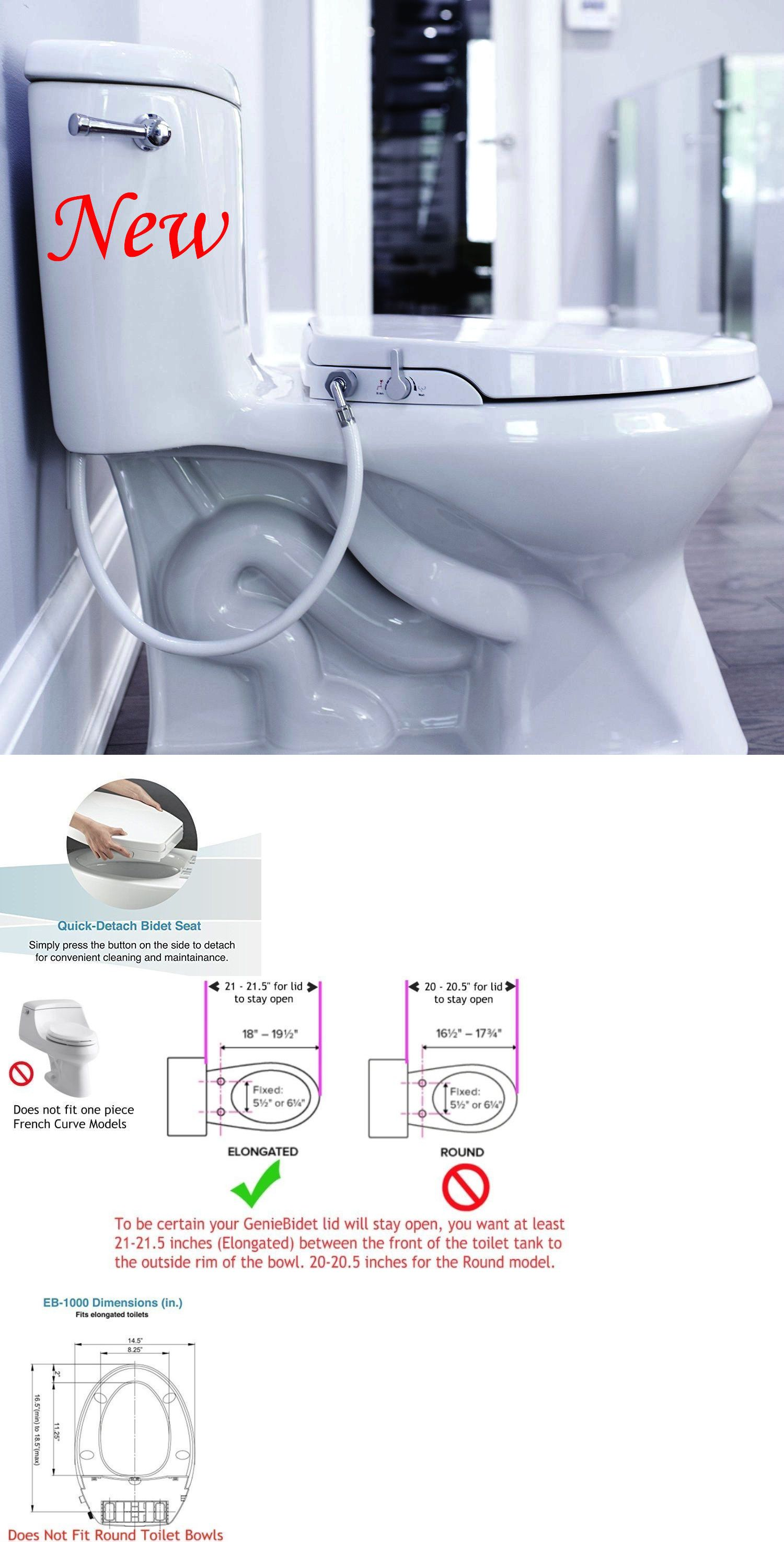 Details About Genie Bidet Elongated Toilet Bidet Seat Non Electric