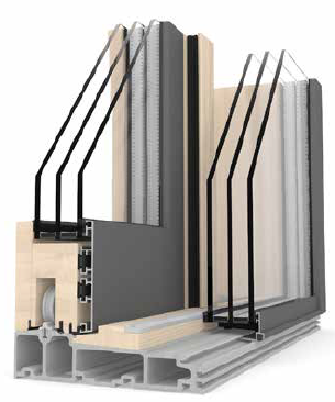 Hs330 cross section internorm new triple glazed lift and for Porte lift and slide