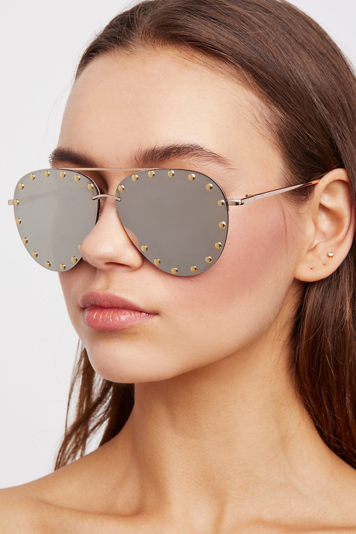 Star Struck Studded Aviator | Free People  In a classic shape, these