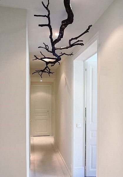 Zimmerdecken Dekoration Aus ästen Und Zweigen