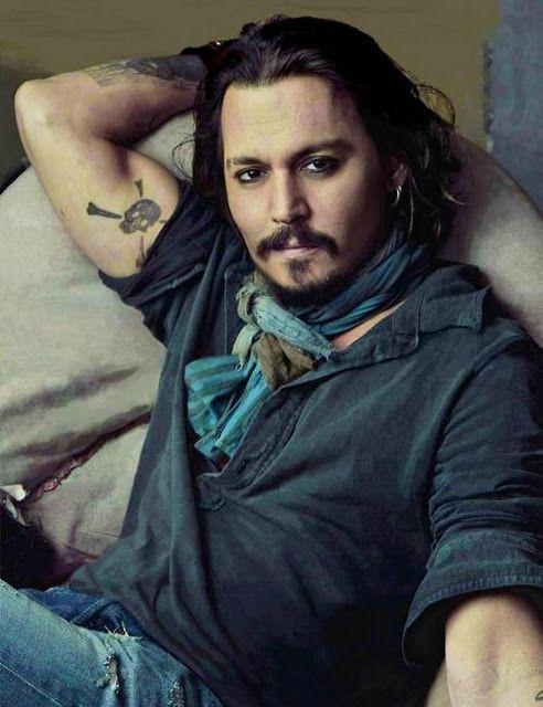 81935cd0e3dd9 Johnny Depp's 31 Tattoos & Their Meanings - Body Art Guru   Johnny ...
