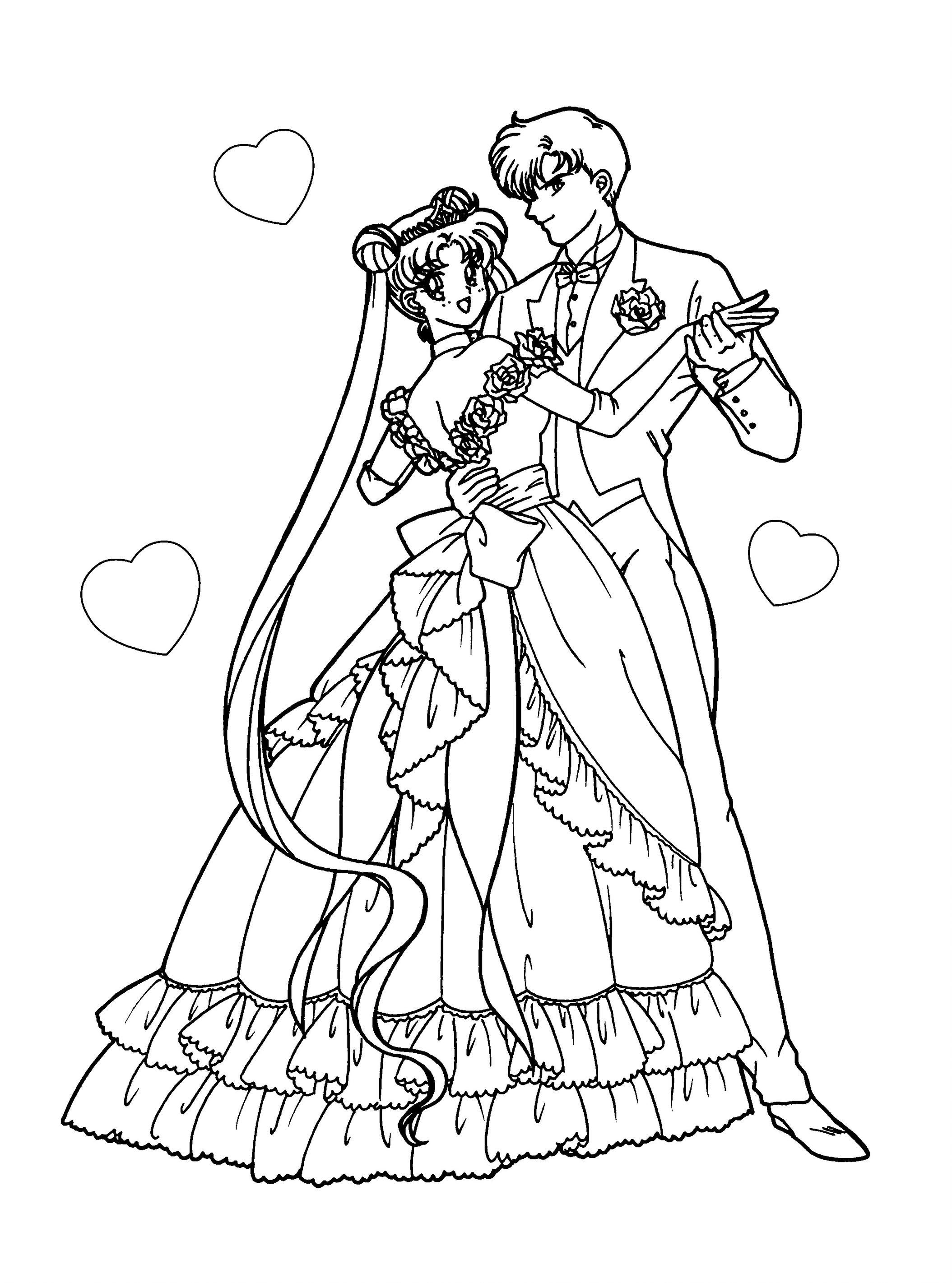 Serena And Darien By Drawingblank2 Sailor Moon Coloring Pages Moon Coloring Pages Sailor Moon Wedding