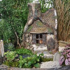 Fairy Garden Enchanted Hollow Log House Home Village Mini Cottage Fairies Trees