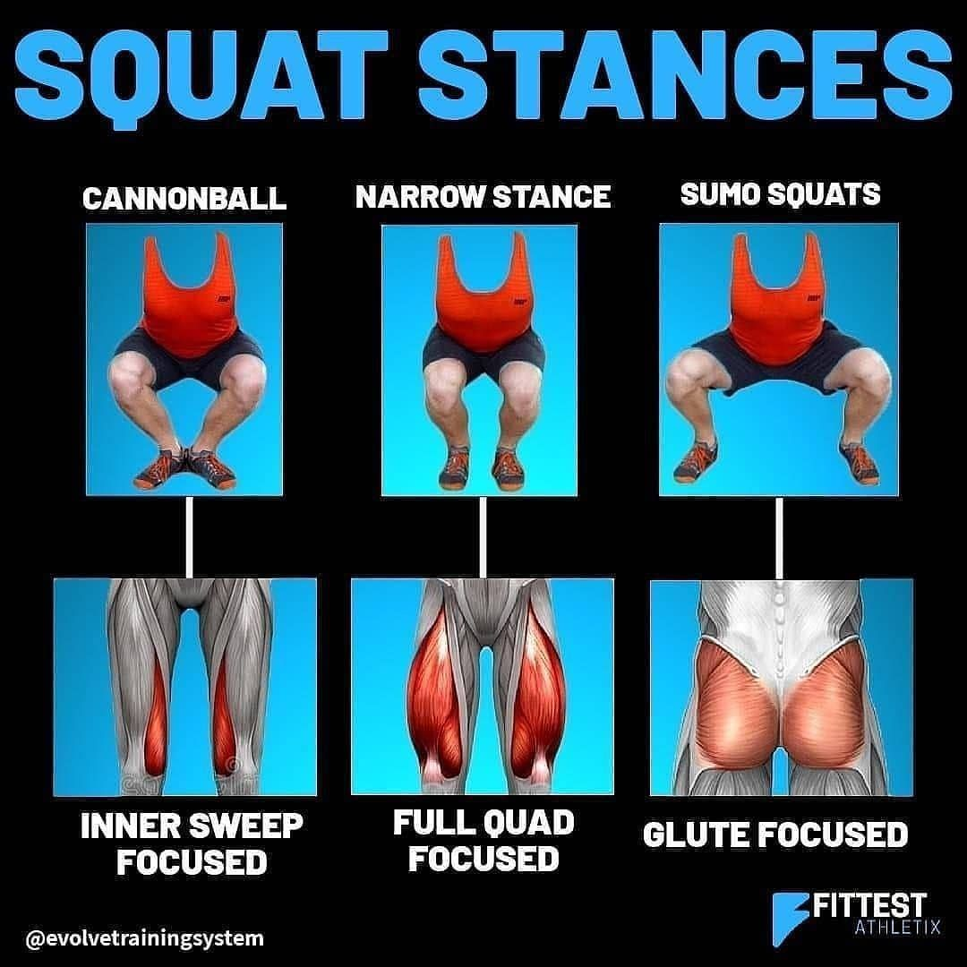 Different squat stances for different results 🏋️‍♂️ Follow @supremefitnessdaily Follow @supremefitne...