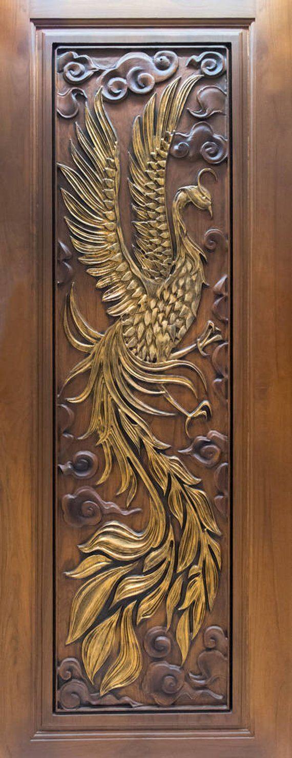 Wood Carving Door Decal, Door Wrap, Self-adhesive Decor, Peel And Stick, Door Sticker, Self Adhesive Vinyl, Vinyl Door Sticker #woodcarvingtoo