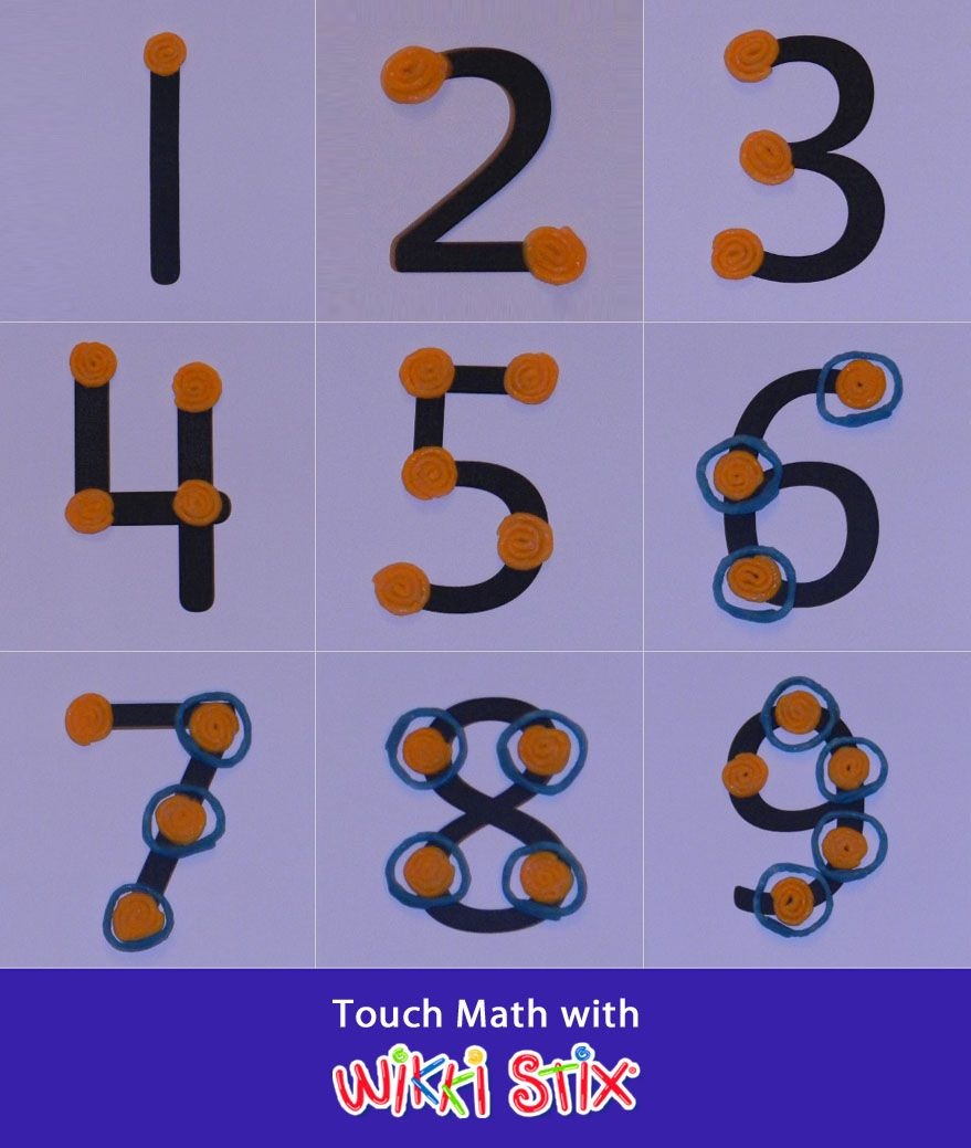 Worksheets Touch Math Worksheets touch math using wikki stix as points teaching points