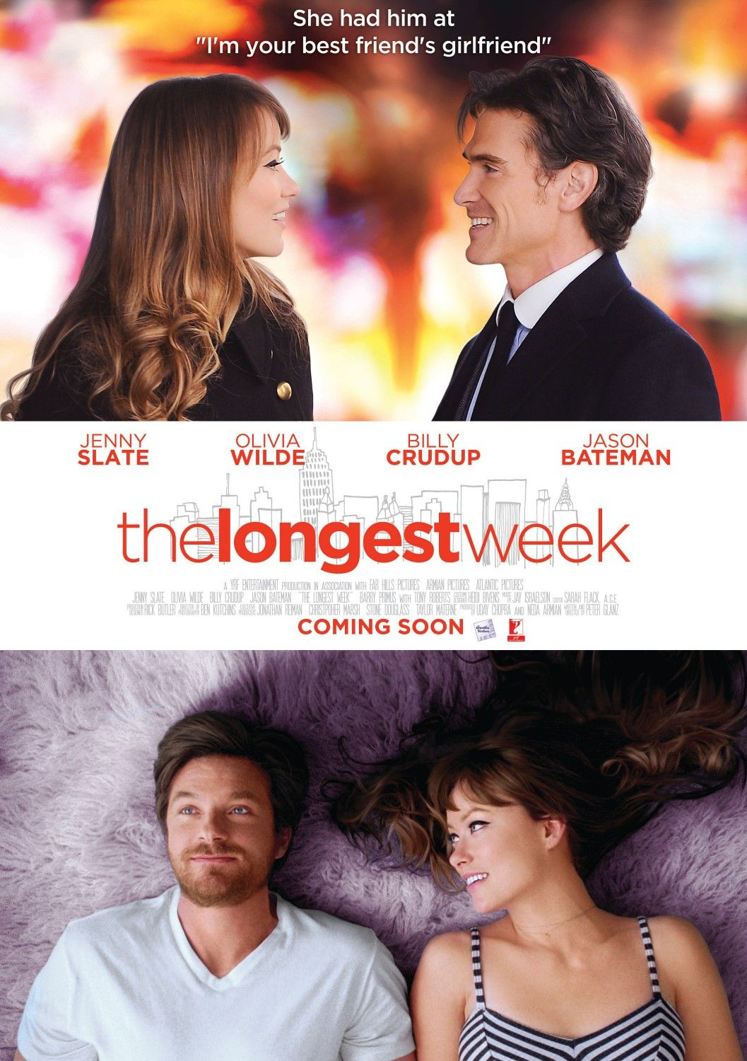 The Longest Week (2014) - Affluent and aimless, Conrad Valmont lives a life of leisure in his parent's prestigious Manhattan Hotel. In the span of one week, he finds himself evicted, disinherited, and... in love.