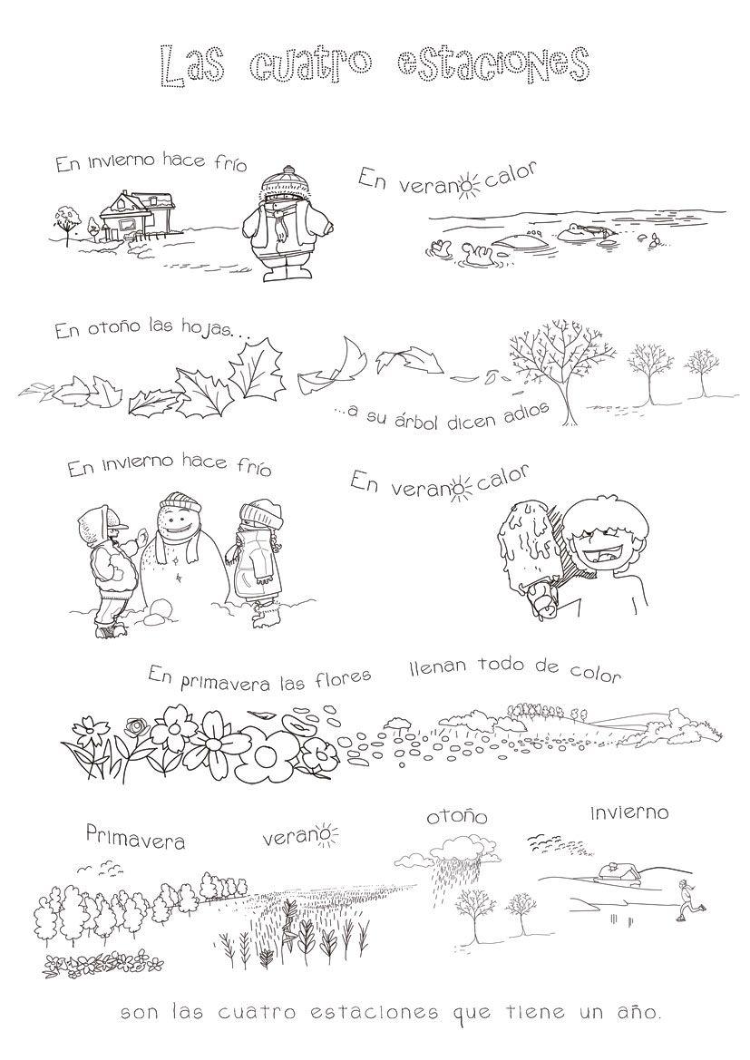 1000 images about WeatherEl tiempo and Seasons Las Estaciones on – Kindergarten Seasons Worksheets