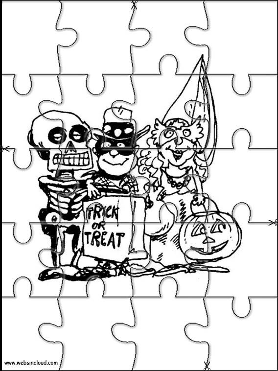 Printable jigsaw puzzles to cut out for kids Halloween 6 Coloring ...