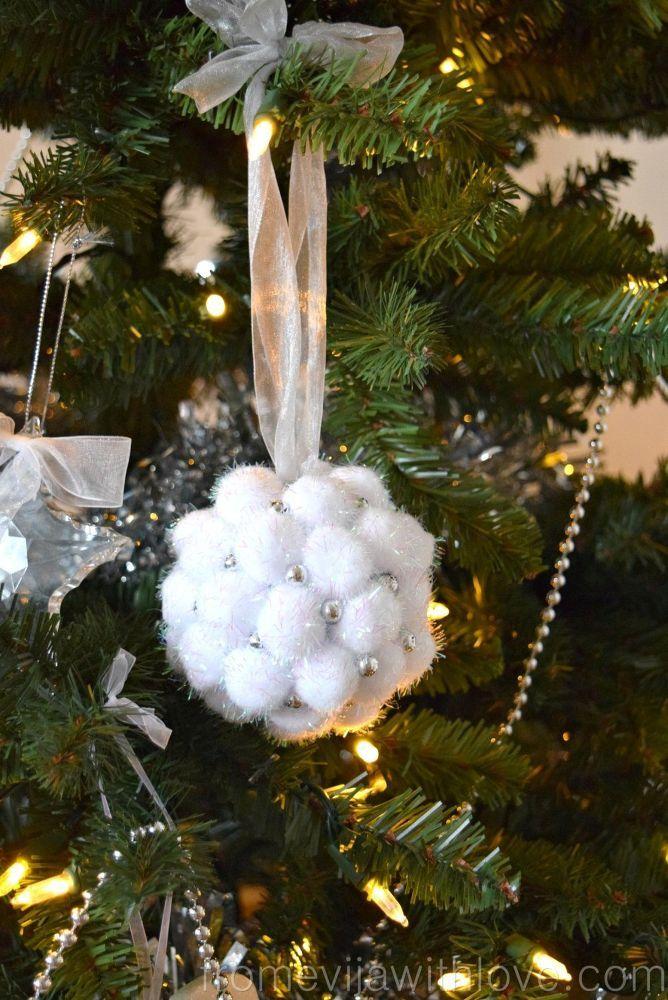 Elegant Handmade Christmas Ornaments.I Hate Pom Poms But Your Elegant Christmas Idea Changed My