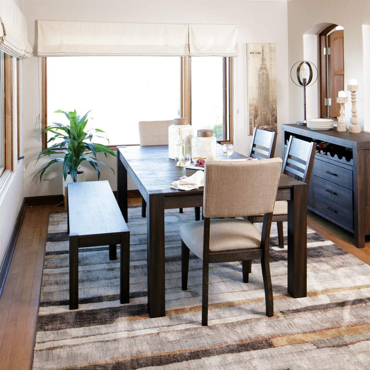 The Acacia dining set named after the