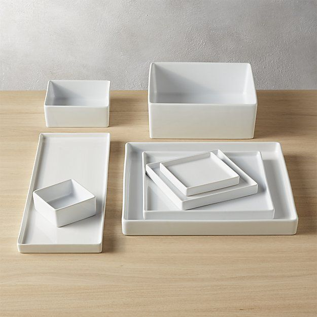 CB2 Bento Square Serving Bowl | Stoneware, Bowls and Modern