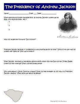 USA-Printables: President Andrew Jackson - US Presidents Coloring ...