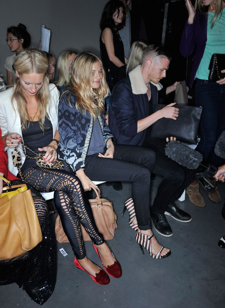 1e37f84814fe Sienna Miller - Celebrities On The Front Row at London Fashion Week Spring Summer  2012