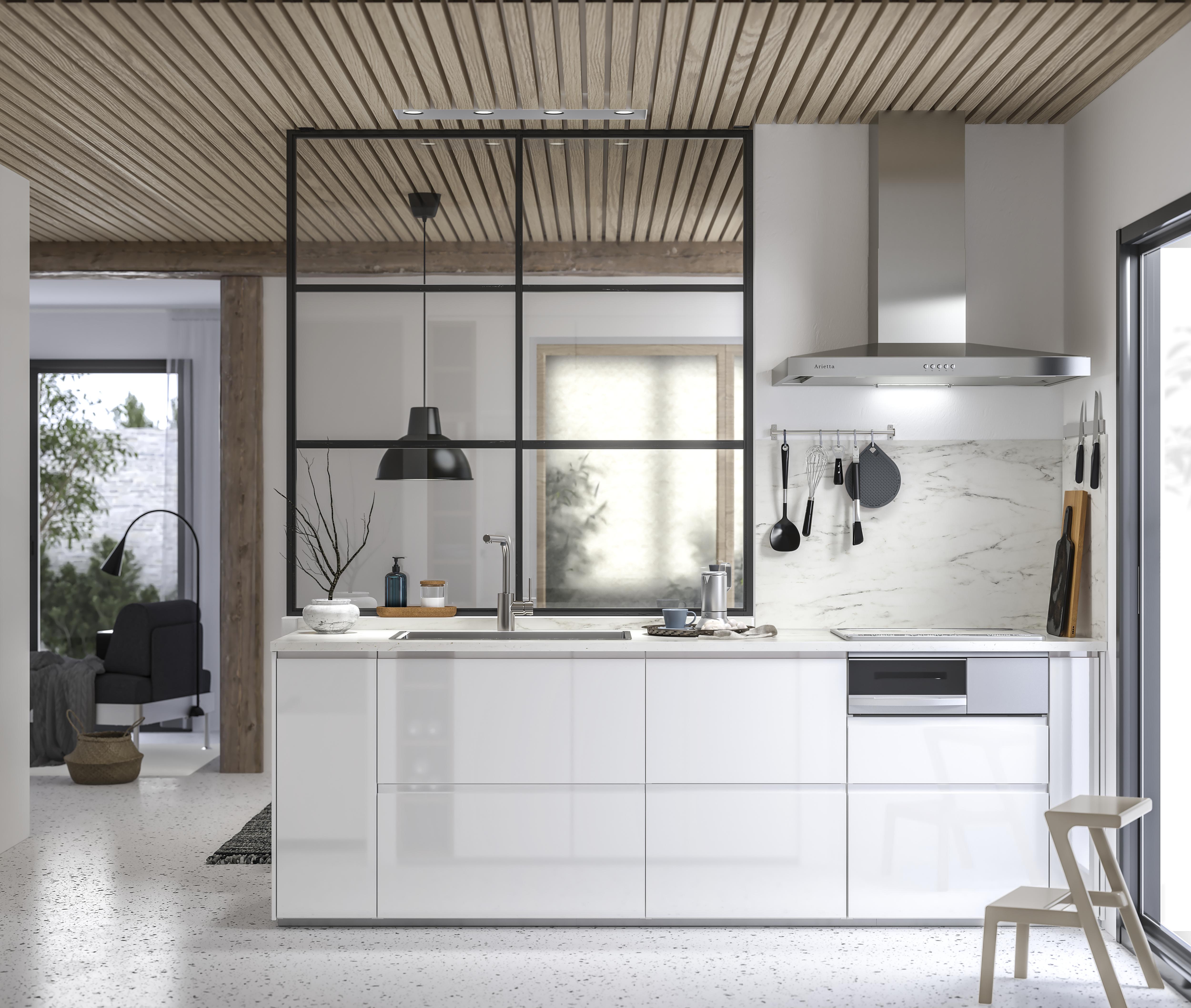 Page Finitions Cuisine Voxtorp Blanc Brillant En 2019