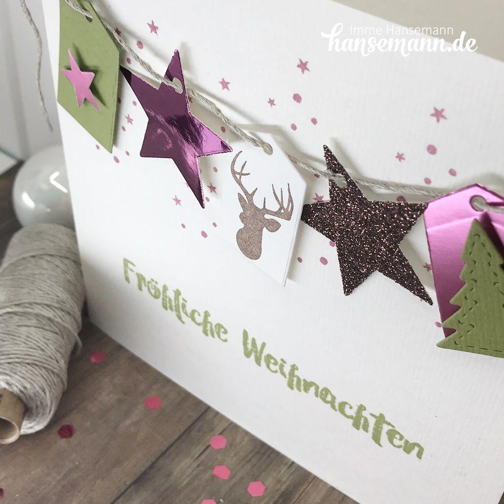 Türchen No. 7 WImpelketten Karte zu Weihnachten