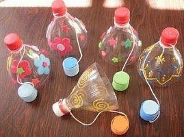 Verwonderend Lege flessen((flessen)) | Zelf speelgoed maken, Kinderkunst FJ-43