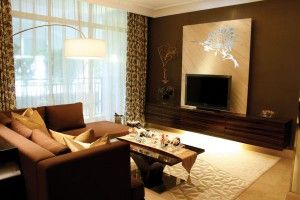 5 Kombinasi Warna Cat Ruang Tamu Dengan Furniture Coklat 873 300x200