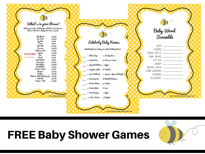 free bee themed baby shower games baby shower free baby shower rh pinterest com