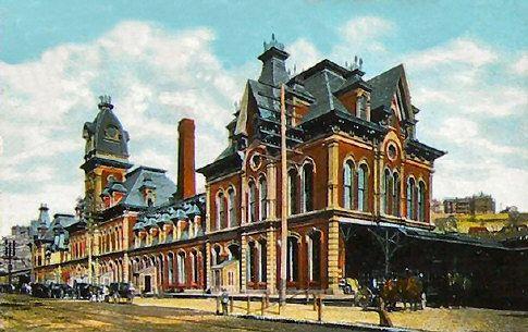 the old kansas city depot is the model for disneyland s train rh pinterest com