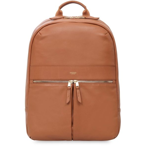 8a4502f1926b Beaux Women's Leather Laptop Backpack - Caramel | KNOMO | Backpacks ...