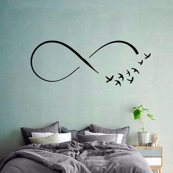 m wen decals infinity symbol v gel zeichen der von decalmyhappyshop architektur pinterest. Black Bedroom Furniture Sets. Home Design Ideas