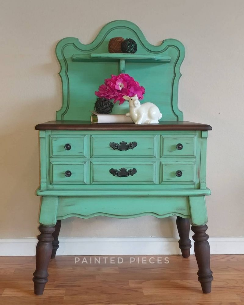 Patina green accent table general finishes design center