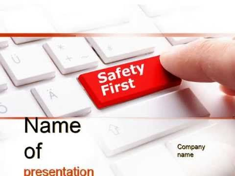 Computer safety first powerpoint template youtube httpwww computer safety first powerpoint template toneelgroepblik Image collections
