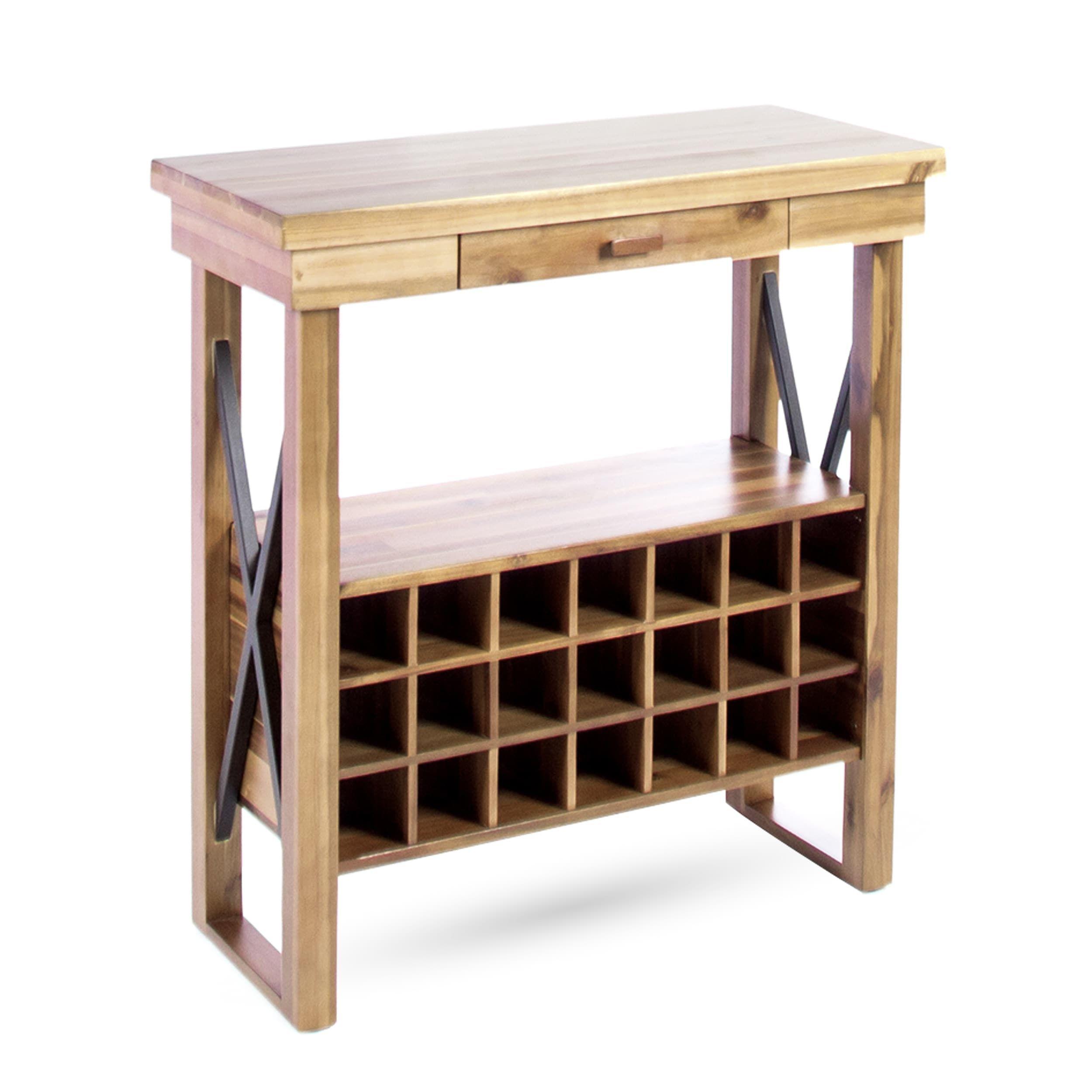 joachim traditional acacia wood wine rack by christopher knight home rh pinterest com