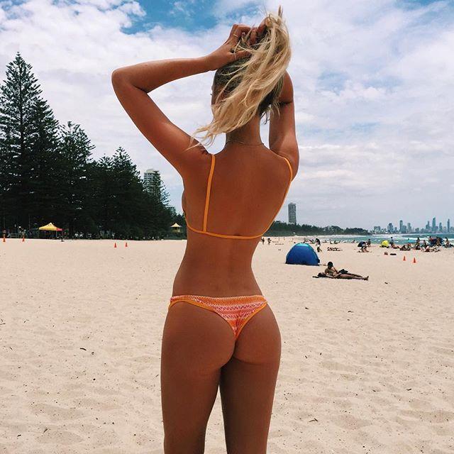 Ass beach bikini booty butt lay pool sun