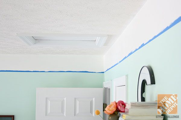 Painted Faux Crown Molding