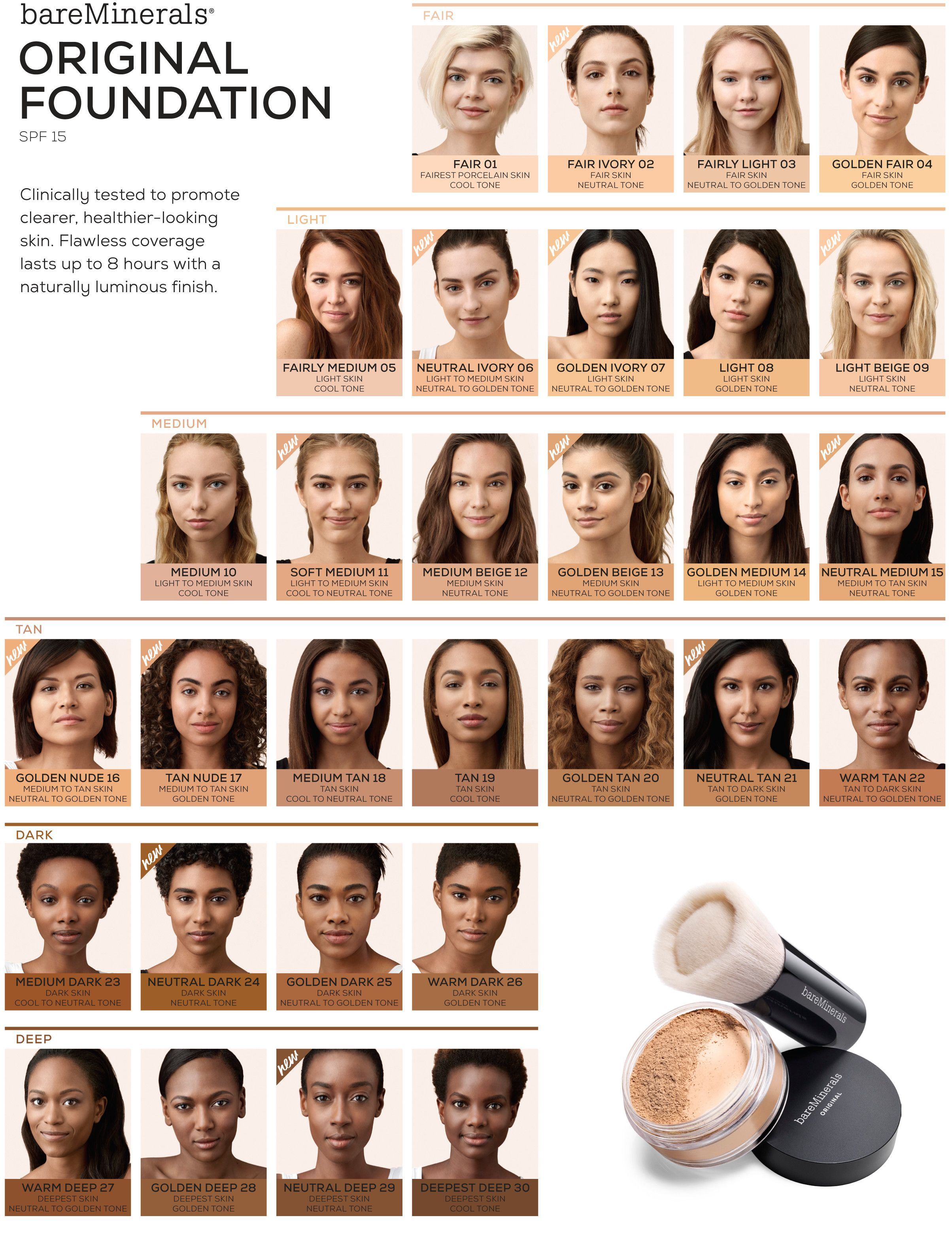 Bildresultat For Bareminerals Foundation Loose Powder Foundation Bare Minerals Foundation Bare Minerals Original Foundation