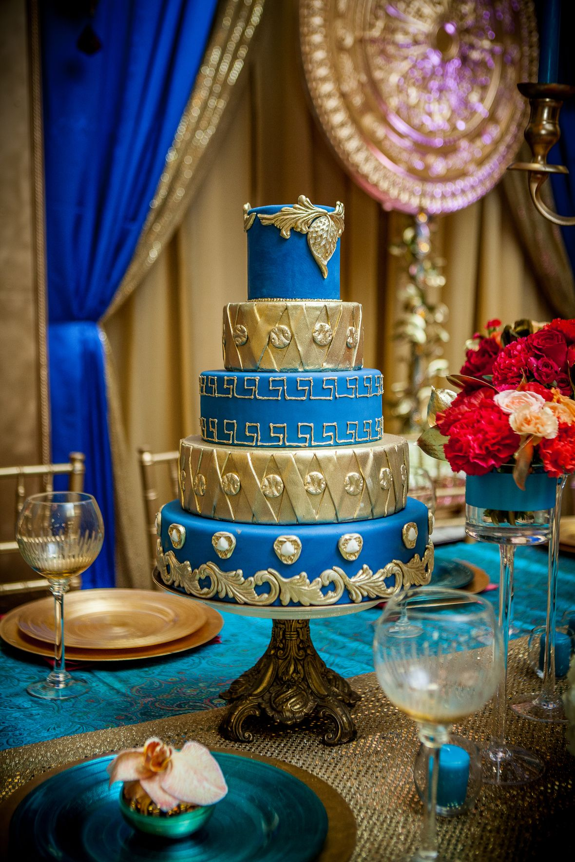 Gold Wedding Inspiration Bold Colours Of The Mediterranean Combined With Egyptian Motifs