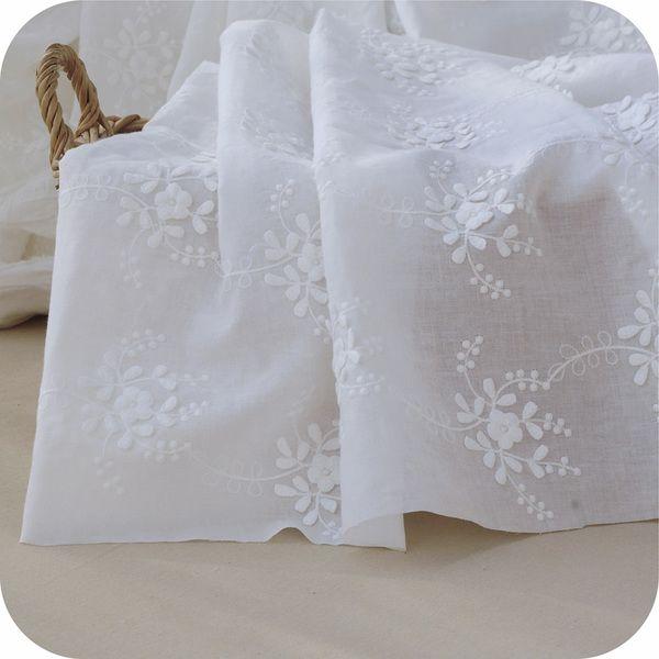 Encaje - Ancho de encaje de algodón Tela 130 (cm) - hecho a mano por LucyWang en DaWanda