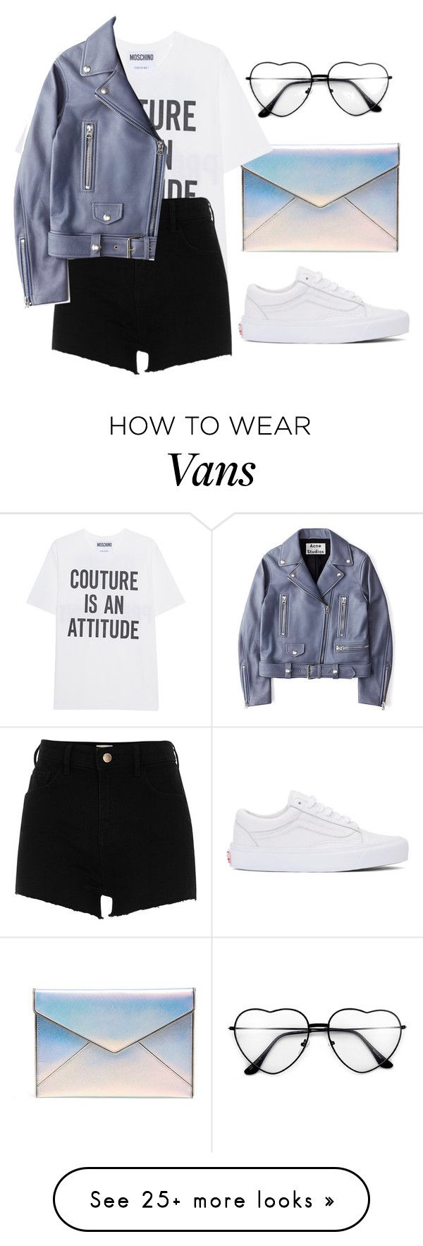 """""""Untitled #559"""" by songjieun on Polyvore featuring Rebecca Minkoff, Moschino, River Island, Vans and Acne Studios"""