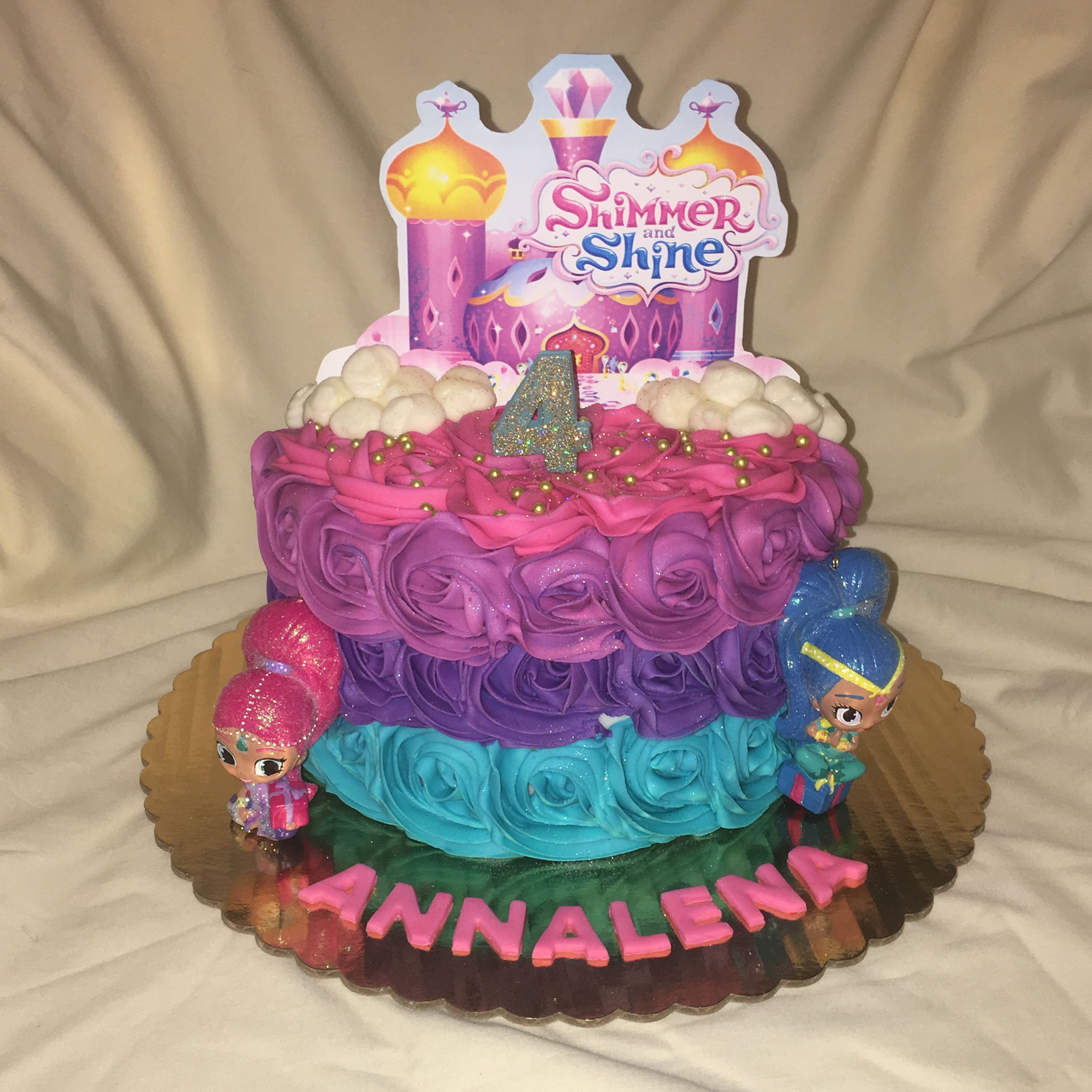 Shimmer And Shine Birthday Cake By Inphinity Designs Located In San