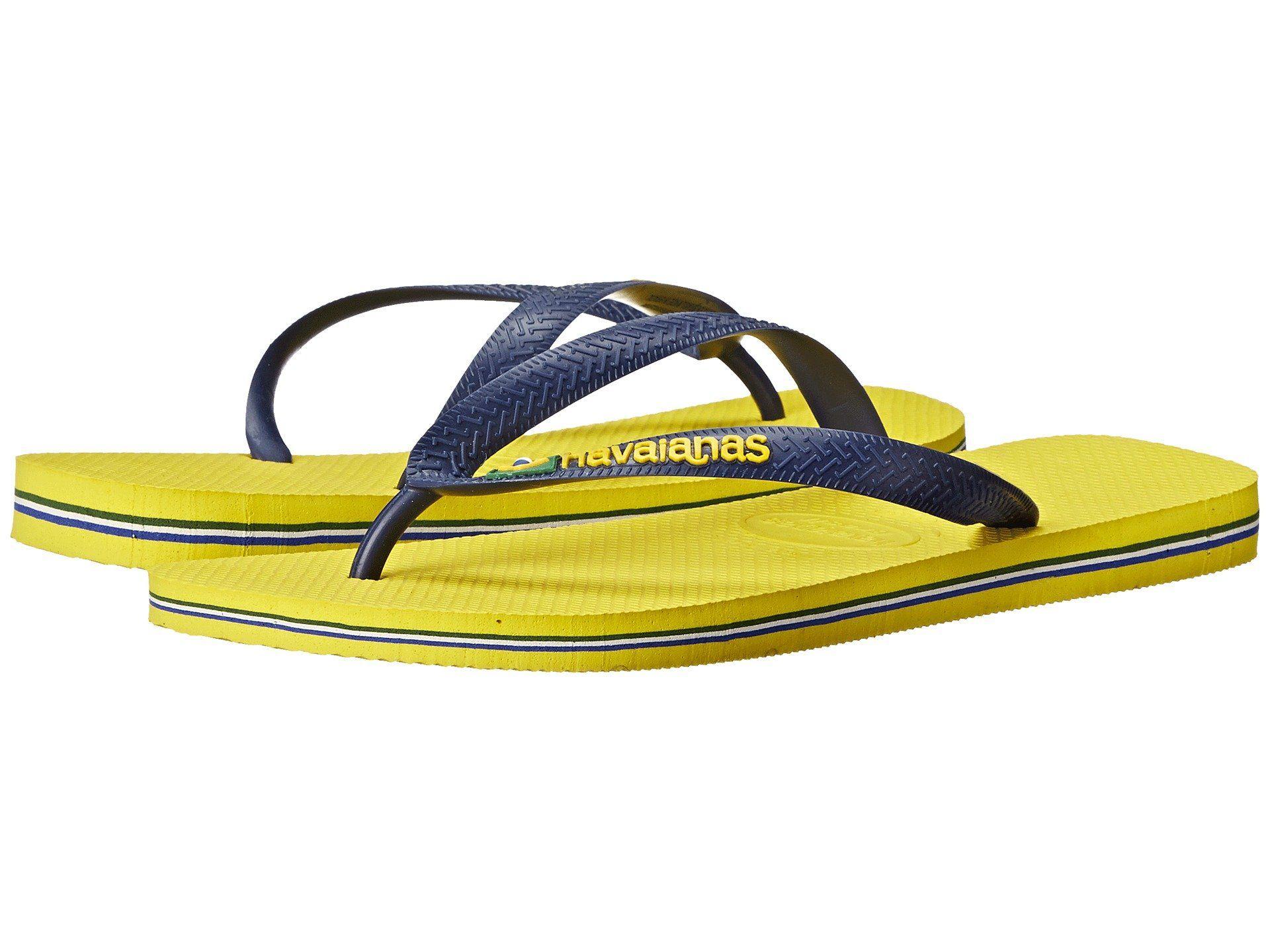 HAVAIANAS Brazil Logo Flip Flops. #havaianas #shoes #
