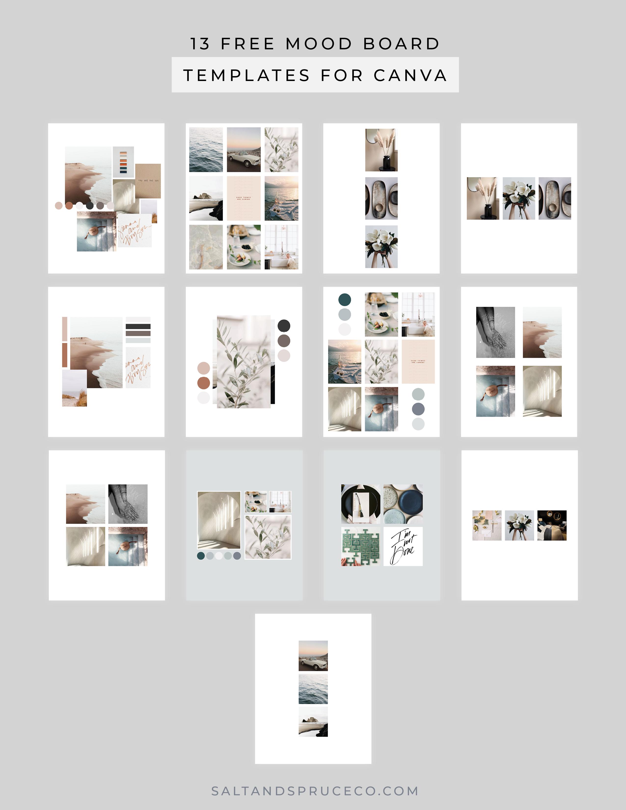13 Free Canva Mood Board Templates In 2020 Mood Board Template Mood Board Templates
