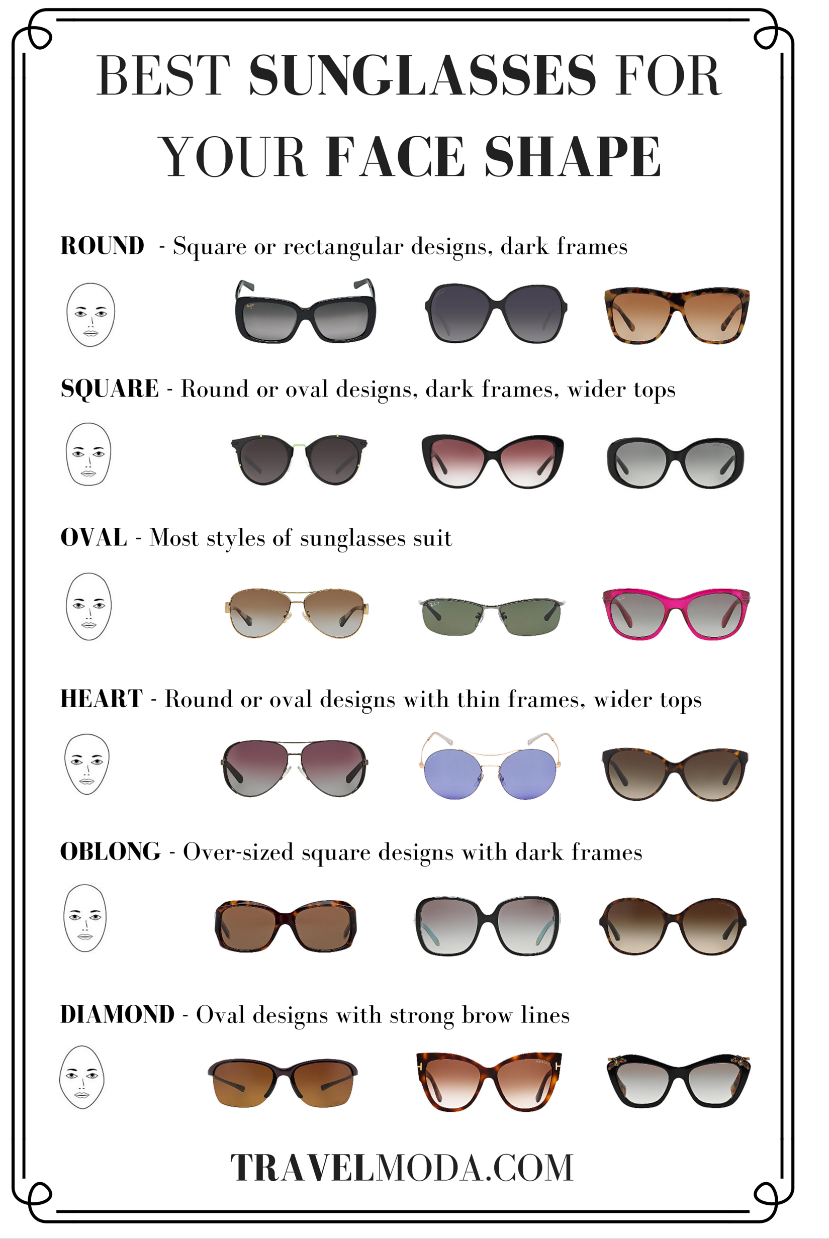 Best Sunglasses For Your Face Shape Womens Sunglasses Face Shape Glasses For Your Face Shape Sunglasses Guide