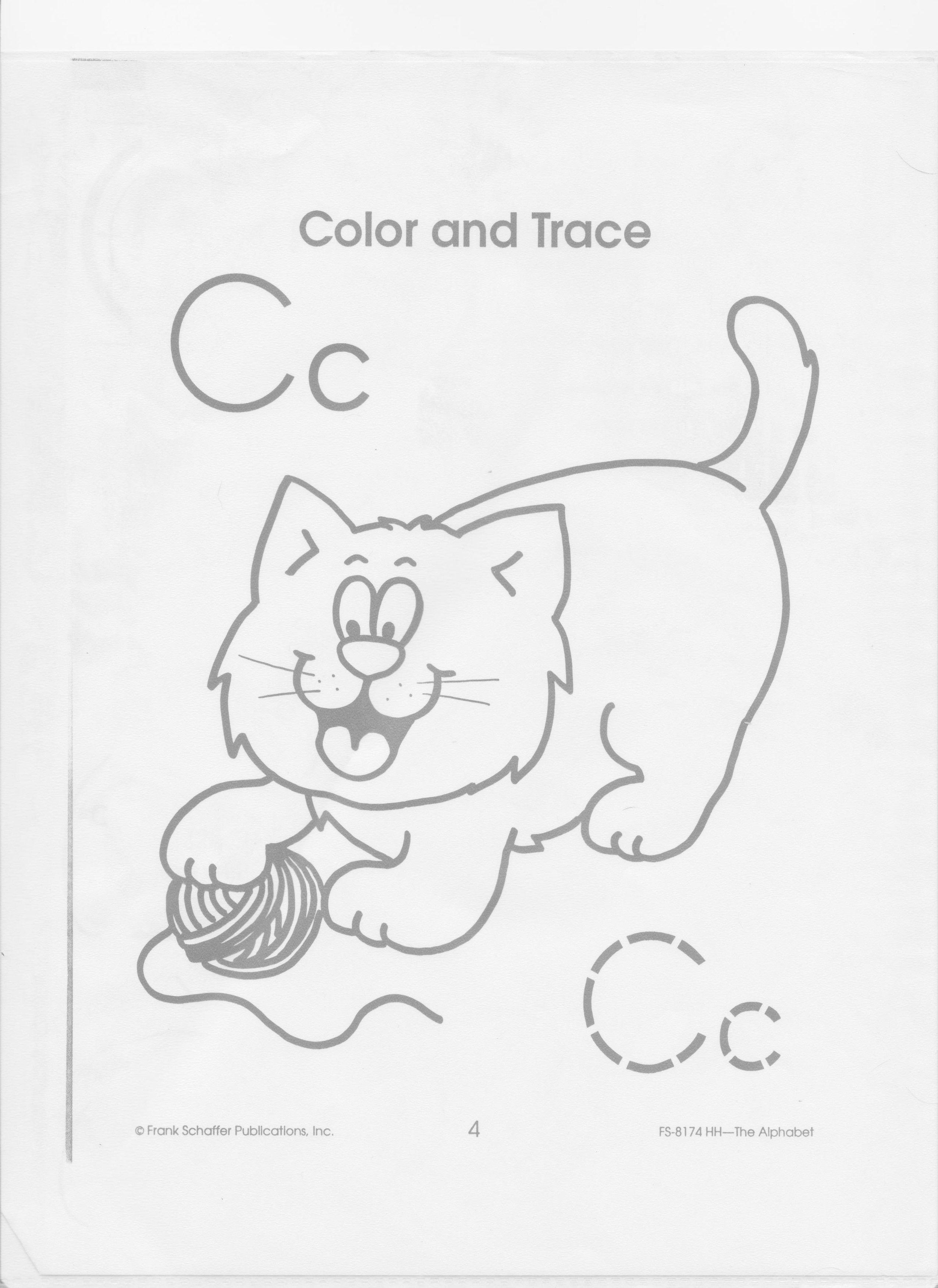 Alphabet Letter C Coloring Sheet