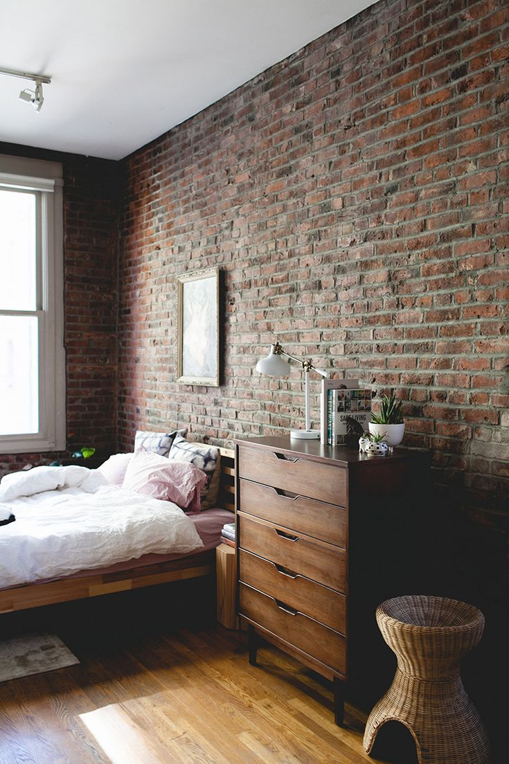 21 amazing bedrooms with exposed brick walls in 2019 no place like rh pinterest com