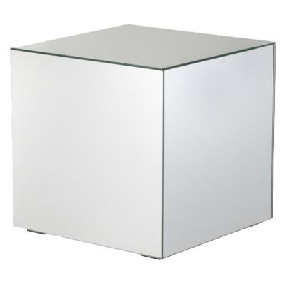 100 Mirrored Cube Living Room Accent Side/End Table