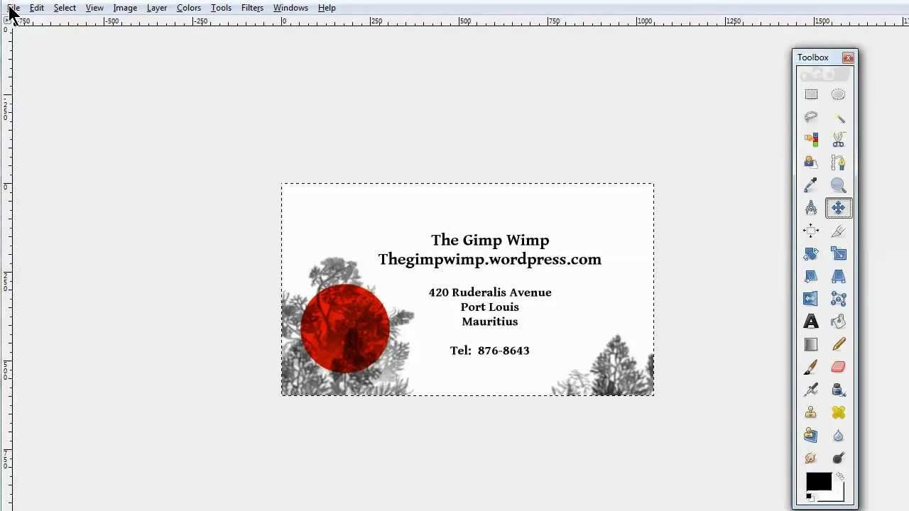 Custom Business Card In Gimp 2 8the Gimpwimp Regarding Gimp Business Card Templat Custom Business Cards Business Card Template Business Card Templates Download
