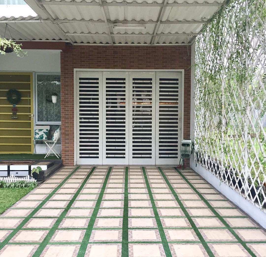 Untuk Yg Sering Dm Nanya Garasi Rumah Seperti Apa Ini Sengaja Saya Posting Ya Sengaja Saya Buat Simpel Dg Keramik Ba Desain Eksterior Rumah Kebun Arsitektur