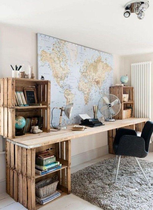 como usar mapas na decorao Foto ReproduoPinterest 16 ideias para usar