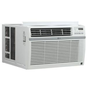Lg Electronics 10 000 Btu 115 Volt Window Air Conditioner With Remote And Energy Star In White Lw1016er The Home Depot Window Air Conditioner Room Air Conditioner Air Conditioner
